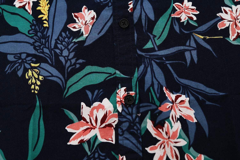 Mens Hawaiian Short Sleeve Printed Shirt Button Down Casual Shirts for Men Palm Tree Beach Hawaiian Aloha Shirt