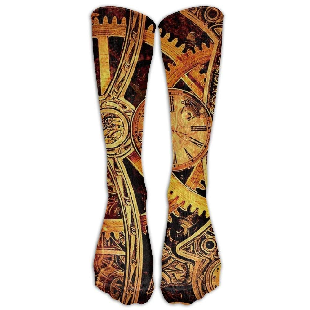 Cool Steampunk Gears Athletic Tube Stockings Women Men Classics Knee High Socks Sport Long Sock One Size bikini bag