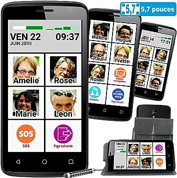 Mobiho-Essentiel Smart M45. Smartphone para mayores.Adecuado para ...
