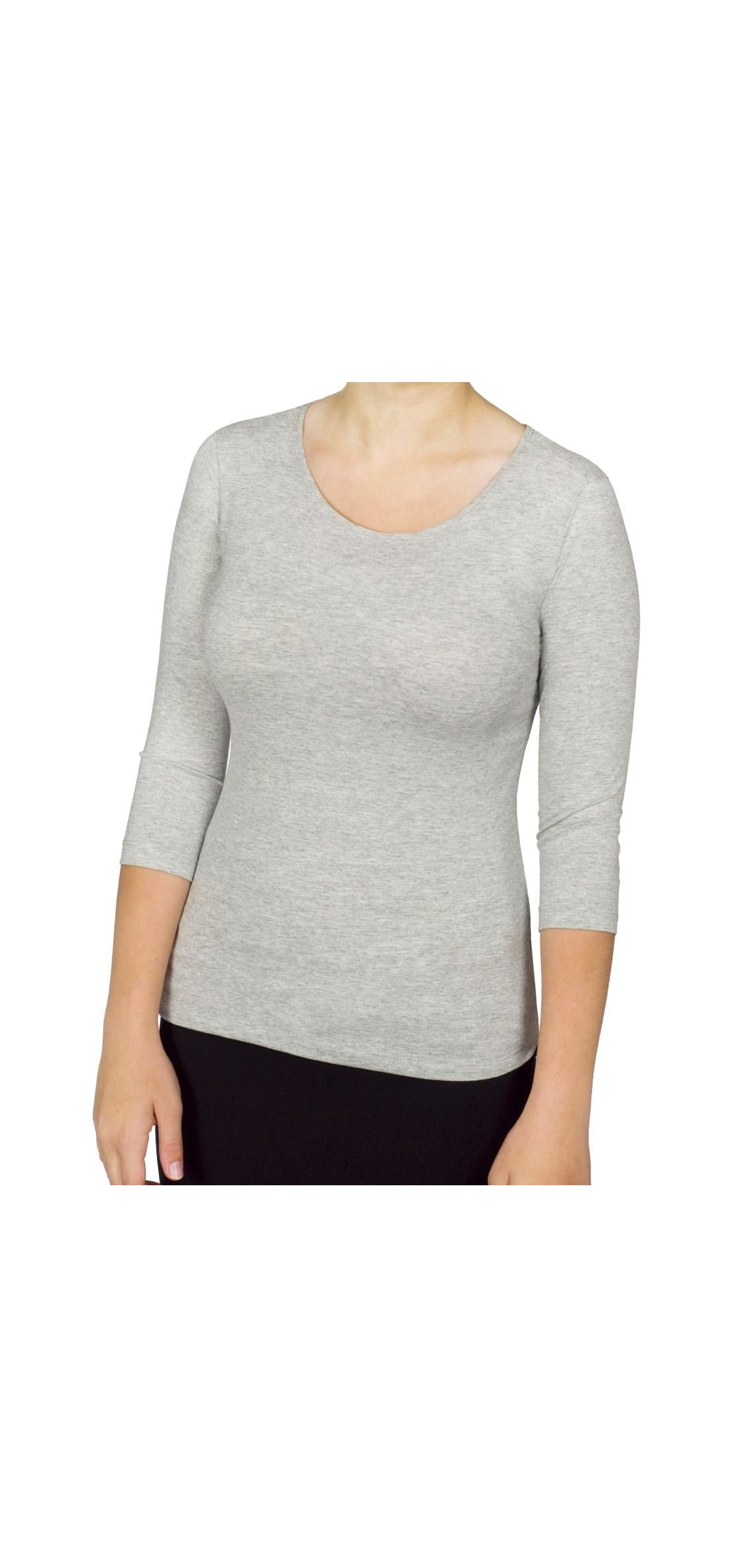 Women's - Sleeve Boat Neck Layering Knit Top