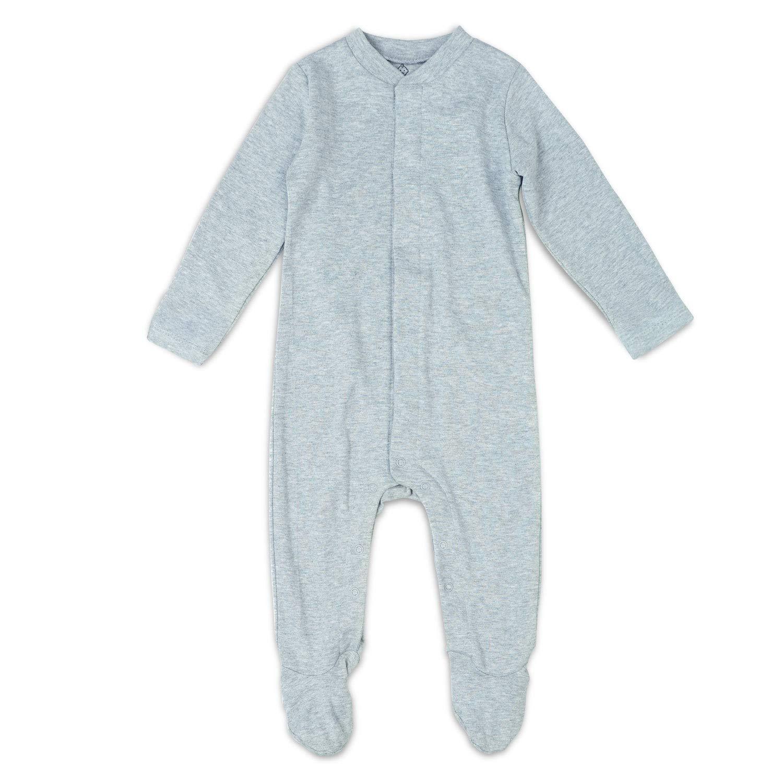 OPAWO 2 Packs Baby Pjs Unisex Infant Boy Girl Footed Sleeper Pajamas Toddler Sleep and Play-Plain Color