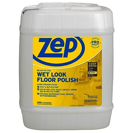 Amazon.com: Zep Wet-Look Floor Polish 5 gallon ZUWLFF5G: Health & Personal Care