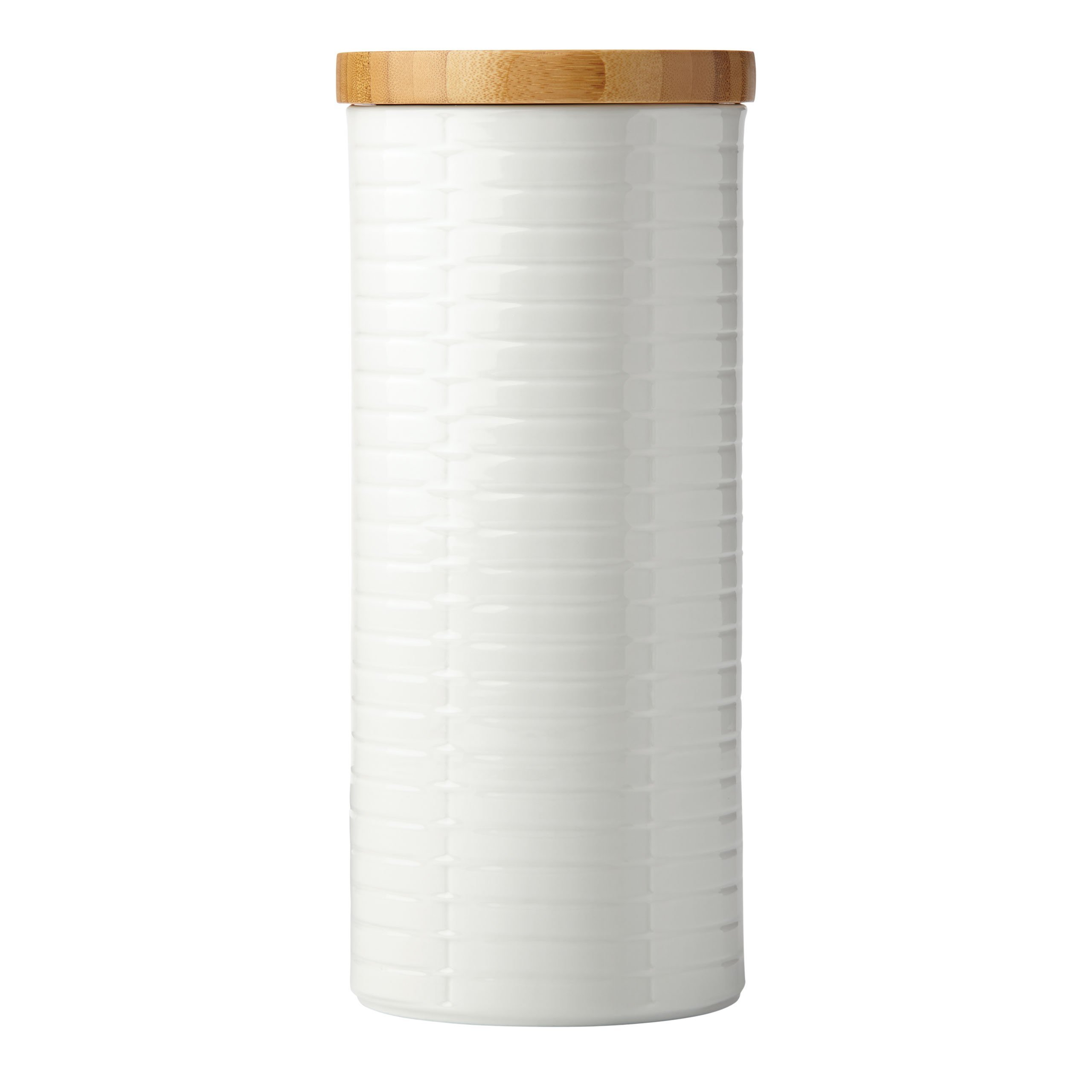 Lenox Entertain 365 Sculpture Tall Canister with Lid, White