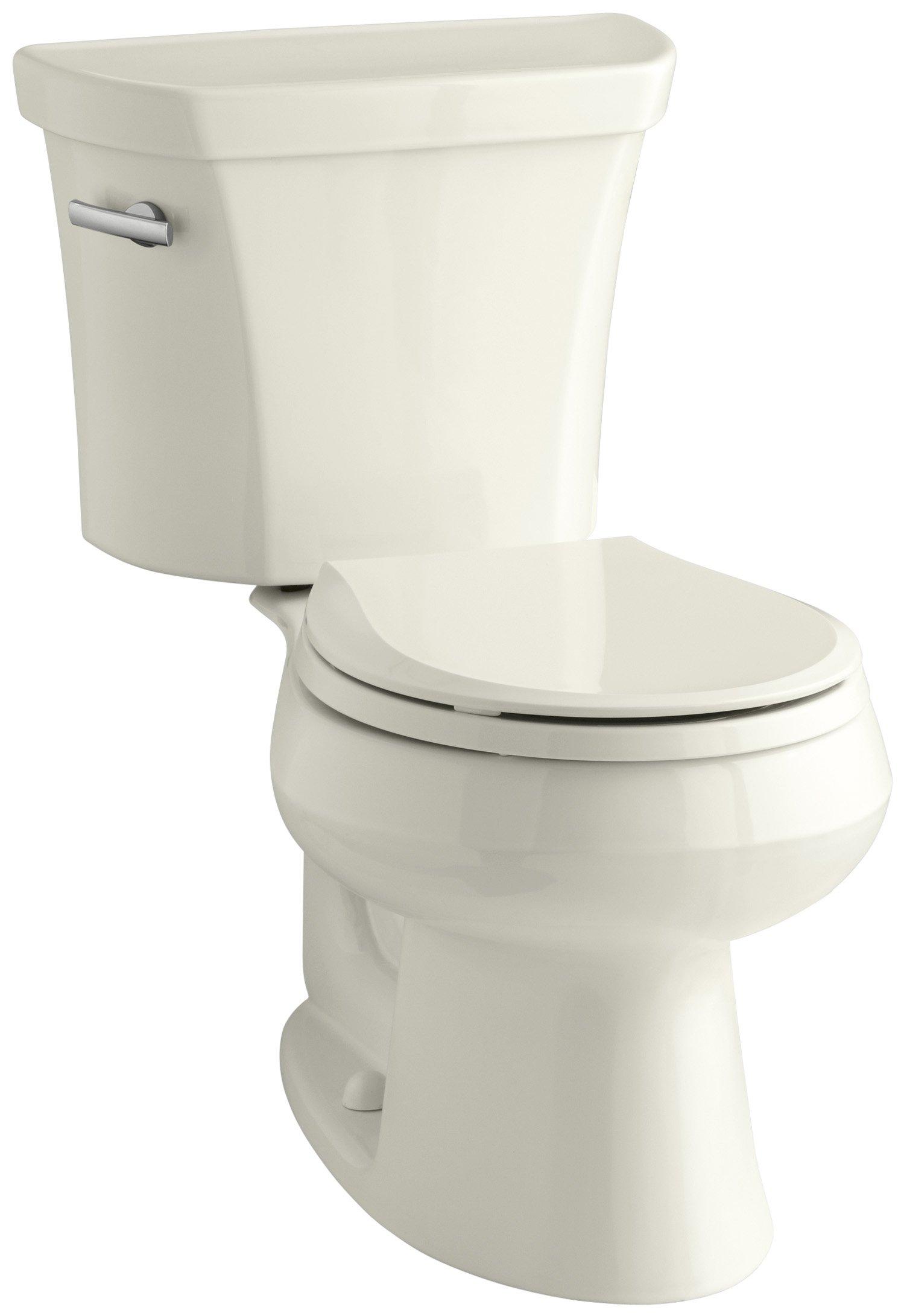 Kohler K-3977-96 Wellworth Round-Front 1.6 gpf Toilet, Biscuit, Less Seat by Kohler