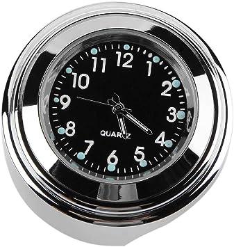 Tuankay Wasserdichte 22 25 Mm Motorrad Lenkerhalterung Zifferblatt Uhr Für Harley Schwarz Auto