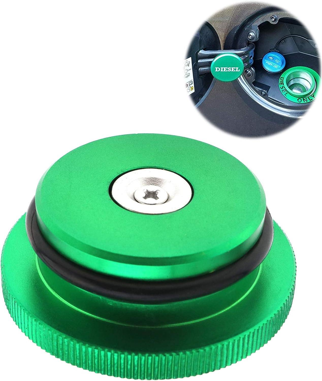 SING F LTD Green Diesel Cap Billet Aluminum Magnetic Fuel Caps Car