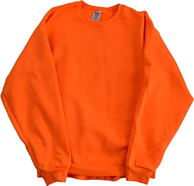 Amazon.com: High Visibility Neon Safety Fleece Pullover Crewneck ...