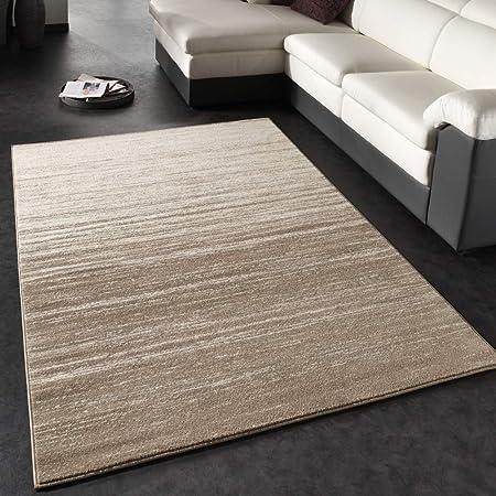 Paco Home Tapis Moderne /à Carreaux Poils Courts Mouchet/é Gris Cr/ème Brun Dimension:60x110 cm