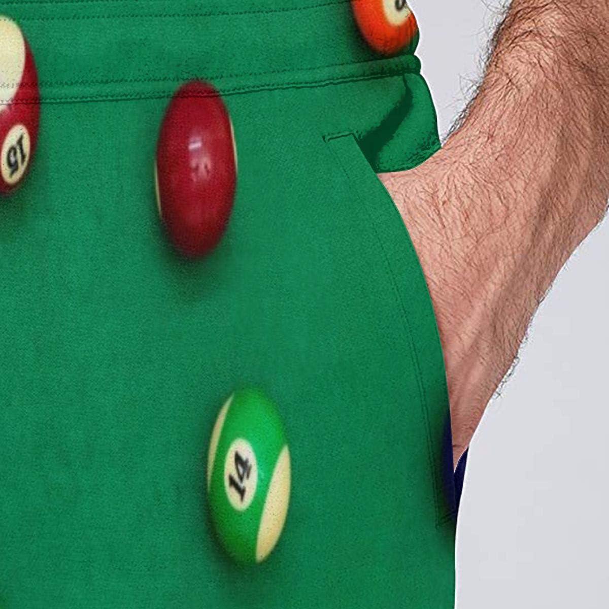 LDDDP Closeup Shot - Pantalones de Deporte para Hombre, diseño de Bolas de Billar, Color Verde Negro Negro (41-44.5: Amazon.es: Ropa y accesorios