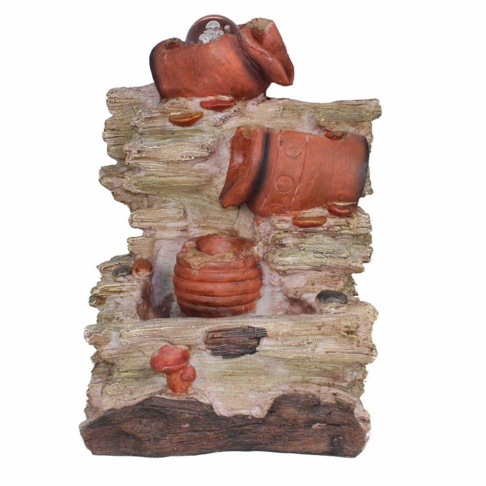 Benzara Polyresin Water Fountain, Brown