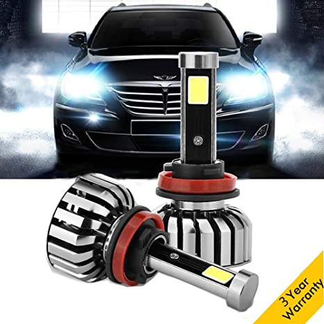 Led Replacement Headlight Bulbs >> Ereach Led Replacement Headlights Bulbs Super Bright 2 Pcs 80w 6000k 8000lm Car Headlamps Conversion Kits Waterproof Ip68 Fog Light With Cob Chips