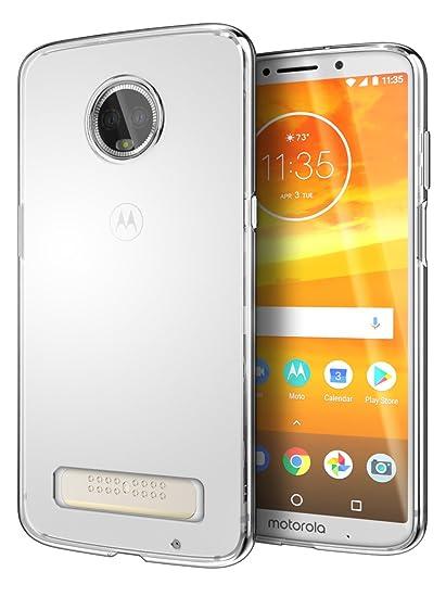 release date: 4f827 30fb3 Cimo Slim Grip Moto Z3, Moto Z3 Play Case with Premium TPU Protection for  Motorola Moto Z3, Moto Z3 Play - Clear