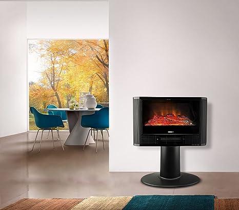 585906 Estufa de chimenea eléctrica Efecto de llama DICTROLUX 900-1800 vatios