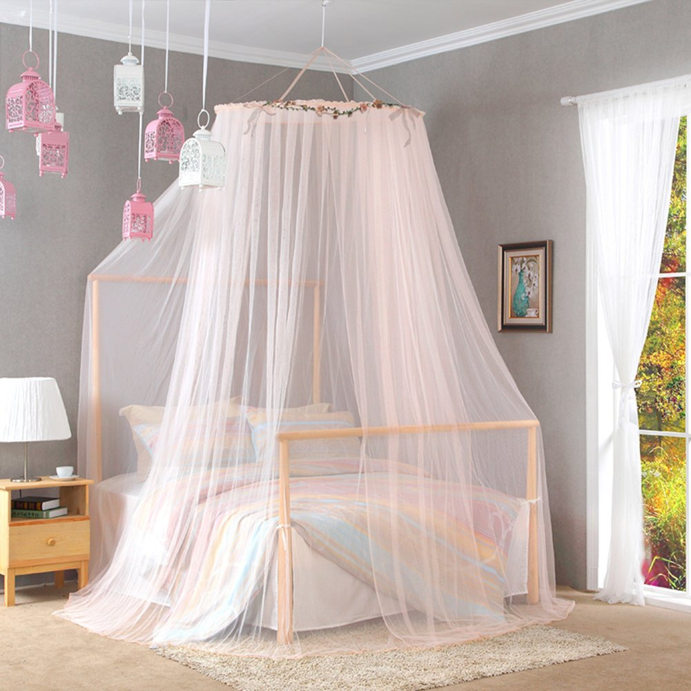 Palace Ceiling Mosquito Nets/Double,Home Simple Land Princess Wind Mosquito Nets/Encrypted Thickening Mosquito Net-F E