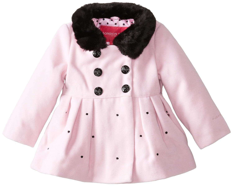 London Fog Baby Girls Faux Wool Jacket