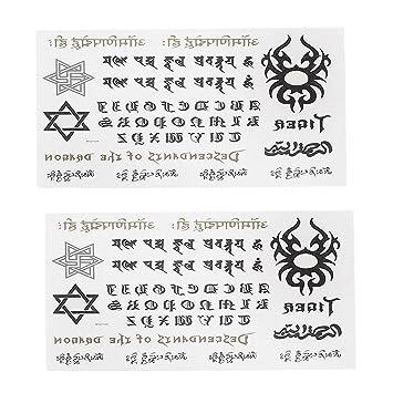 La escritura árabe del cuerpo etiqueta engomada desprendible de ...