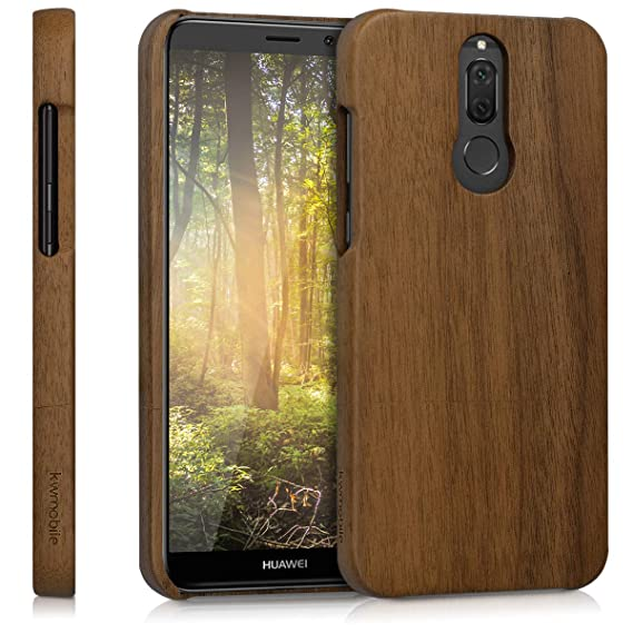 best service 042f1 e2f12 Amazon.com: kwmobile Huawei Mate 10 Lite Wood Case - Non Slip ...