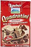 Loacker Quadratini Bite Size Wafer Cookies Hazelnut -- 8.82 oz