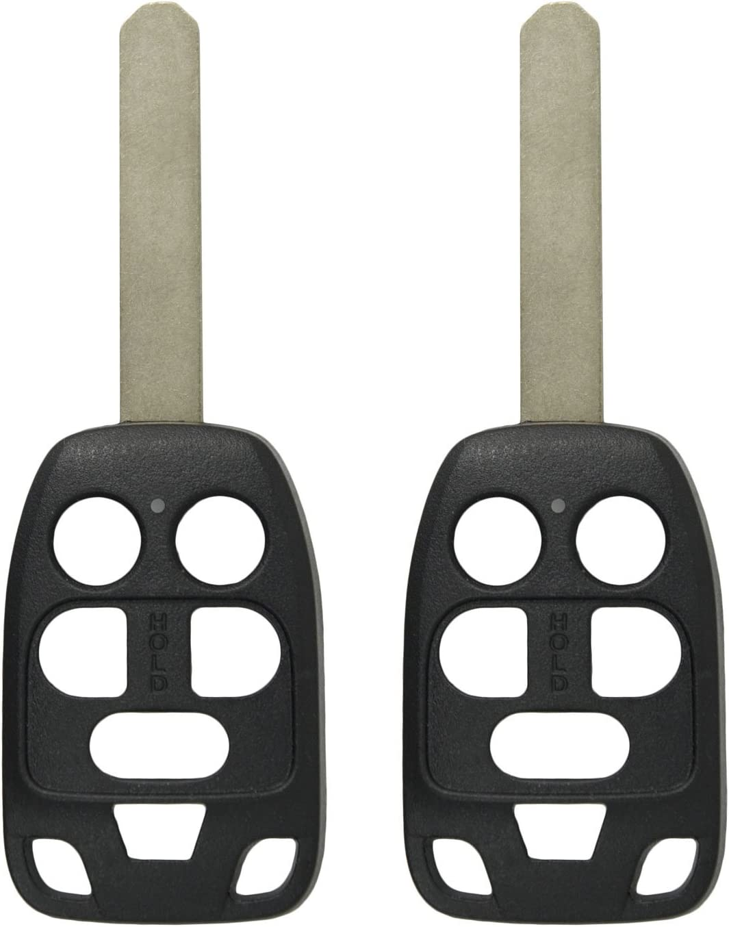2 Pack Keyless2Go New Uncut Replacement 6 Button Remote Head Key Shell for N5F-A04TAA Shell ONLY
