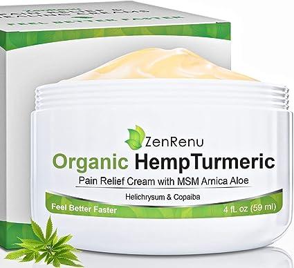 organic hemp pain relief cream