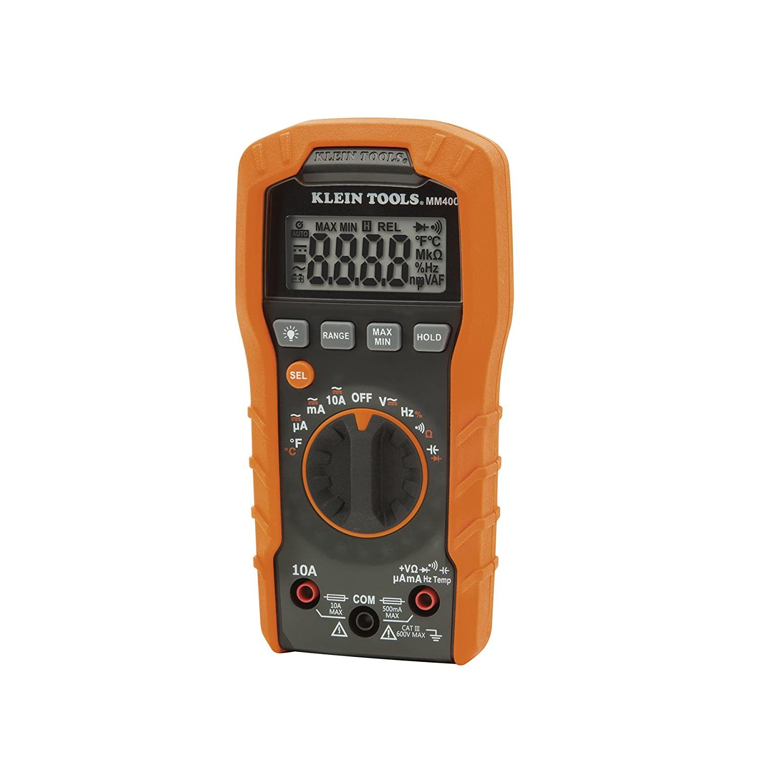 Digital Multimeter Auto Ranging 600v Klein Tools Mm400 How To Test Car Fuse Box With