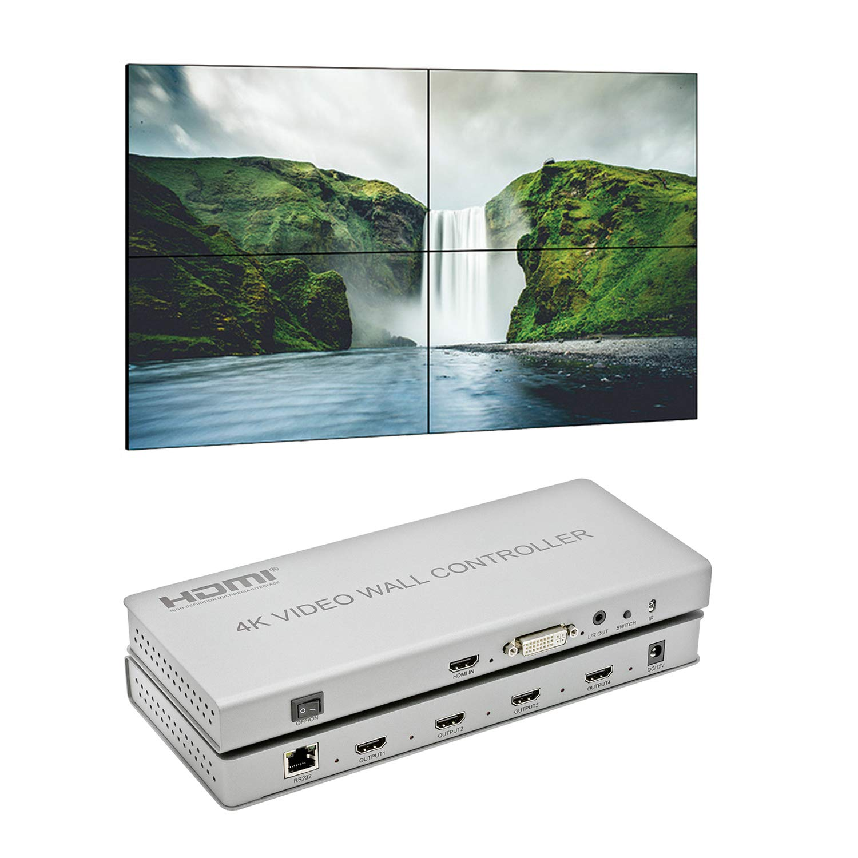 Expert Connect 2x2 Video Wall Controller | 1080p, HDMI 1.4, HDCP1.4 Compliant | HDMI & DVI Inputs; HDMI Outputs | 3 Display Modes - 2x2, 1x2,1x4 | Cascading - 2x4, 2x8