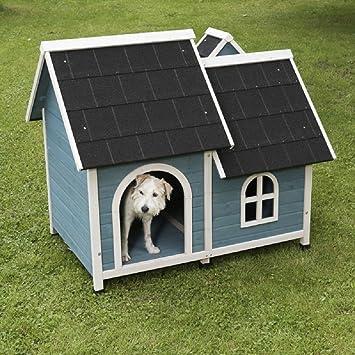 Caseta para perro con techo y chimenea (tamaño mediano): Amazon.es: Productos para mascotas