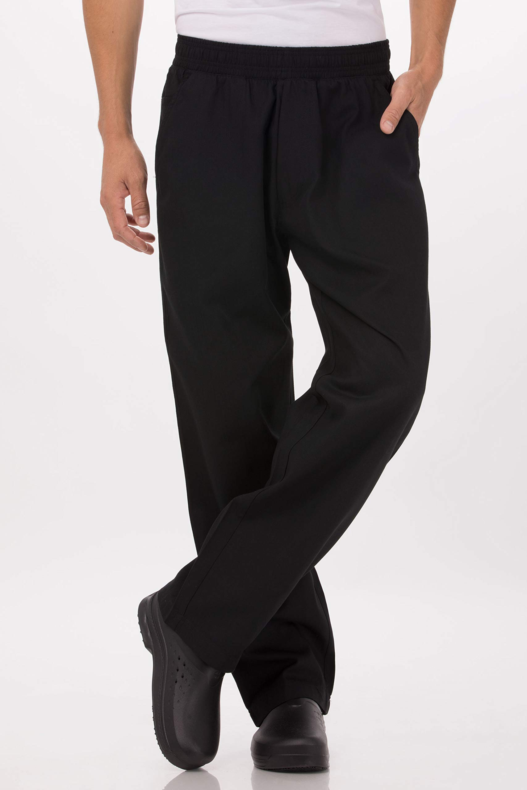 Chef Works Men's Better Built Baggy Chef Pants, Black, 4X-Large by Chef Works