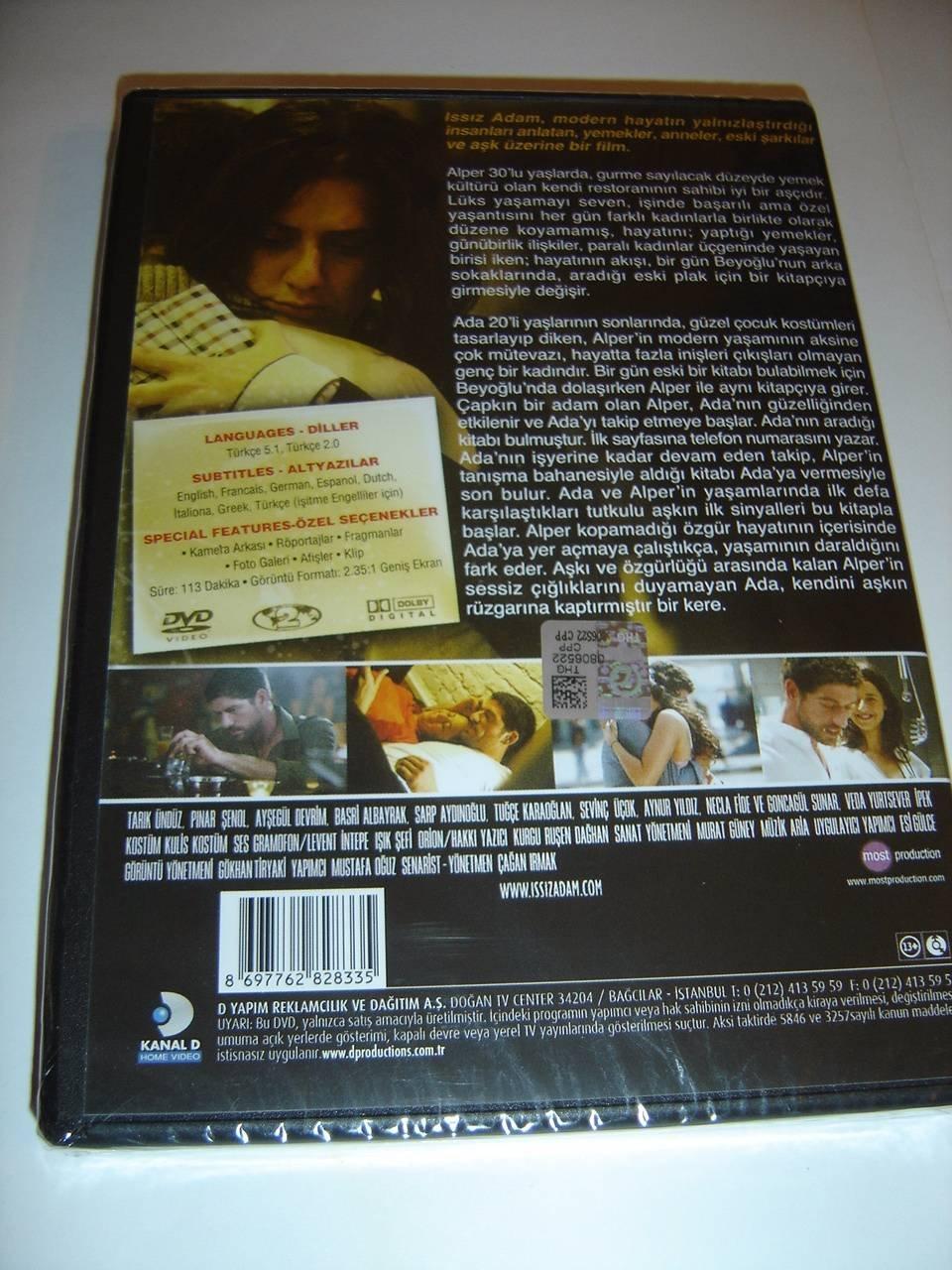 Amazon.com: Issiz Adam (2008) Alone / ONLY TURKISH Audio / English, French, German, Spanish, Dutch, Italian, Greek and Turkish Subtitles [DVD Region 2 PAL]: ...