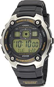 Casio Black Rubber Casual Watch For Men - AE-2000W-9AVDF, Resin