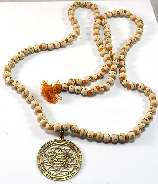 Buycrafty Sri Yantra Colgante & Tulsi Rosery Mala Talismán ...