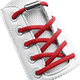 "Elastic No Tie Shoelaces Half Round 1/4"", Stretch Tieless Shoe Laces Strings For Adults Kids Sneakers (1 Pair)"