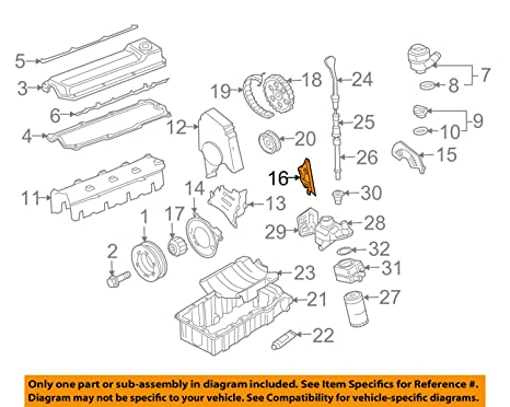 amazon com volkswagen 06a 109 129 a, engine timing cover automotive 1998 2.3 Ford Timing Diagram