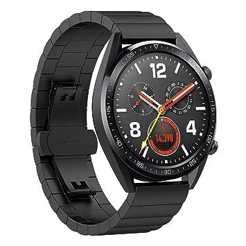 TopTen Bracelet de Remplacement Compatible Huawei Watch GT, Acier Inoxydable Bracelet de Remplacement pour Huawei
