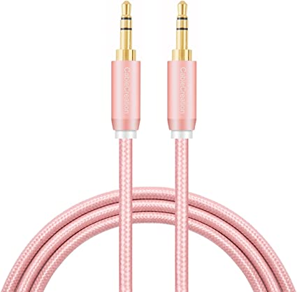 High Quality 3.5mm Male Aux Braided Cord Stereo Audio Cable F Smartphone Tablet