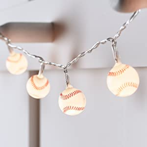 Lights4fun, Inc. 20 Mini Baseball Battery Operated Indoor LED Fairy String Lights