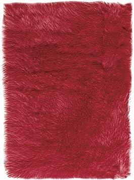 Amazon Com Home Decorators Collection Faux Sheepskin Area Rug 5 X8 Red Furniture Decor