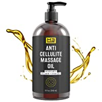 M3 Naturals Anti Cellulite Massage Oil Infused with Collagen and Stem Cell - Natural...