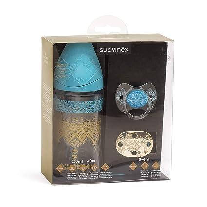 Suavinex 304258 Set Ethnic Bib 270 ml + Chupete + Chupete ...