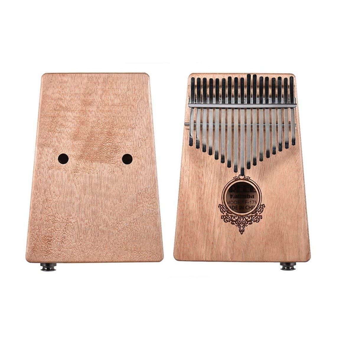 Footprintes 17 teclas de caimán de caoba africanas de Kalimba con dedo pulgar y caja eléctrica: Amazon.es: Instrumentos musicales
