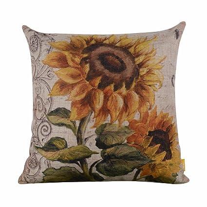 Amazon.com: Pillow Cases,IEason Clearance Sale! Vintage Sunflower ...
