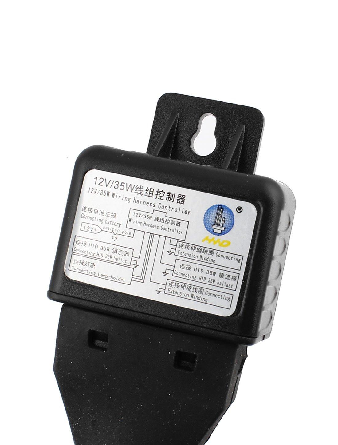 Uxcell 2pcs 35w 6000k Car Hid H4 Headlamp Bulb W Wiring Case Harness Controller Automotive