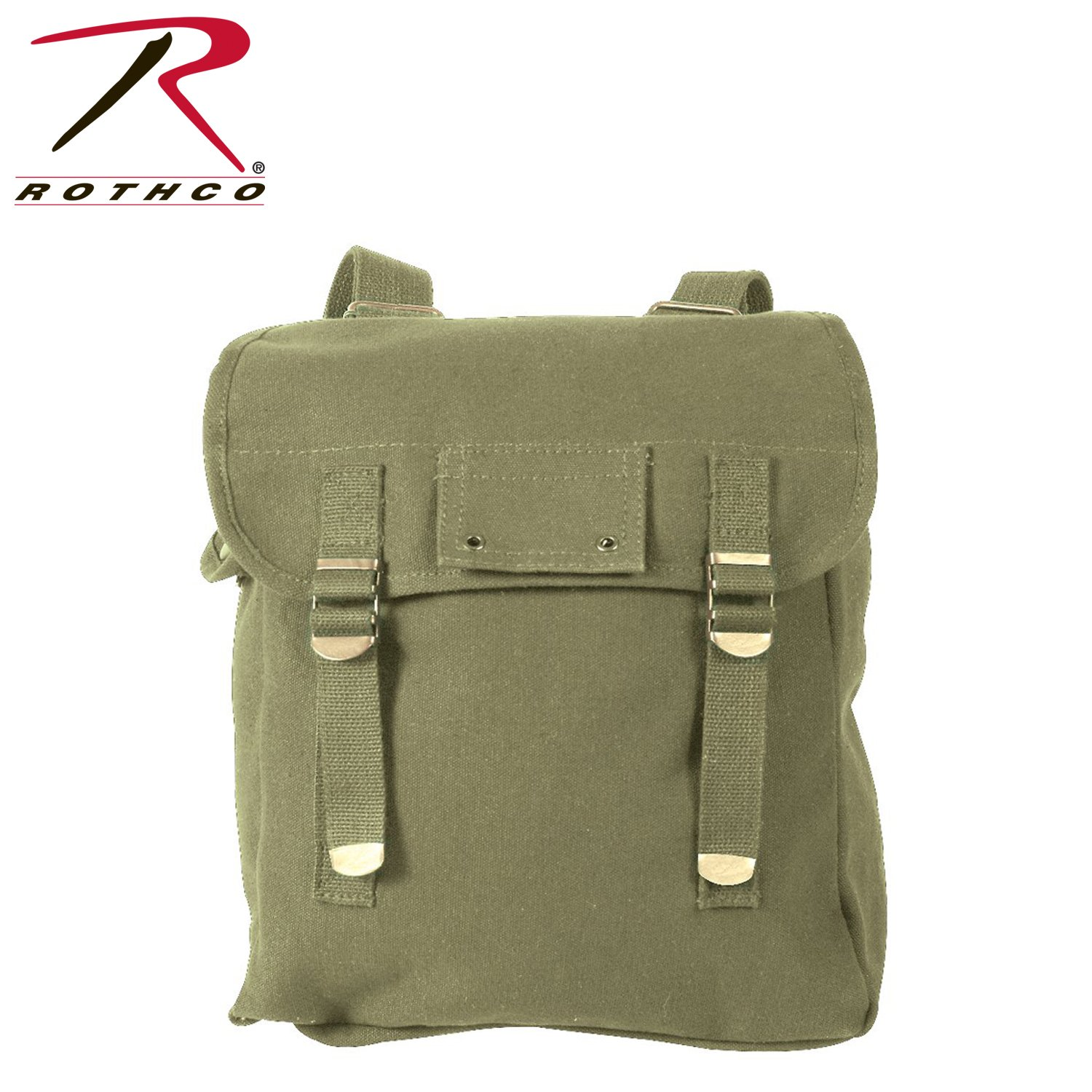 Rothco Heavyweight Canvas Musette Bag, Olive Drab by Rothco