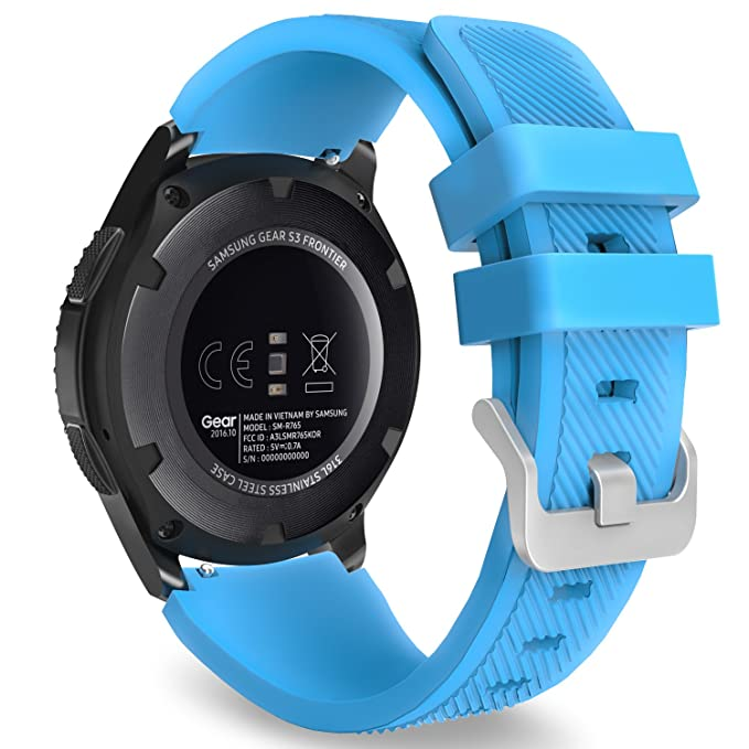 MoKo Compatible con Samsung Gear S3 Frontier/S3 Classic/Galaxy Watch 46mm/Ticwatch Pro/Huawei Watch GT 46mm Correa - 22mm Watch Band Deportiva de ...
