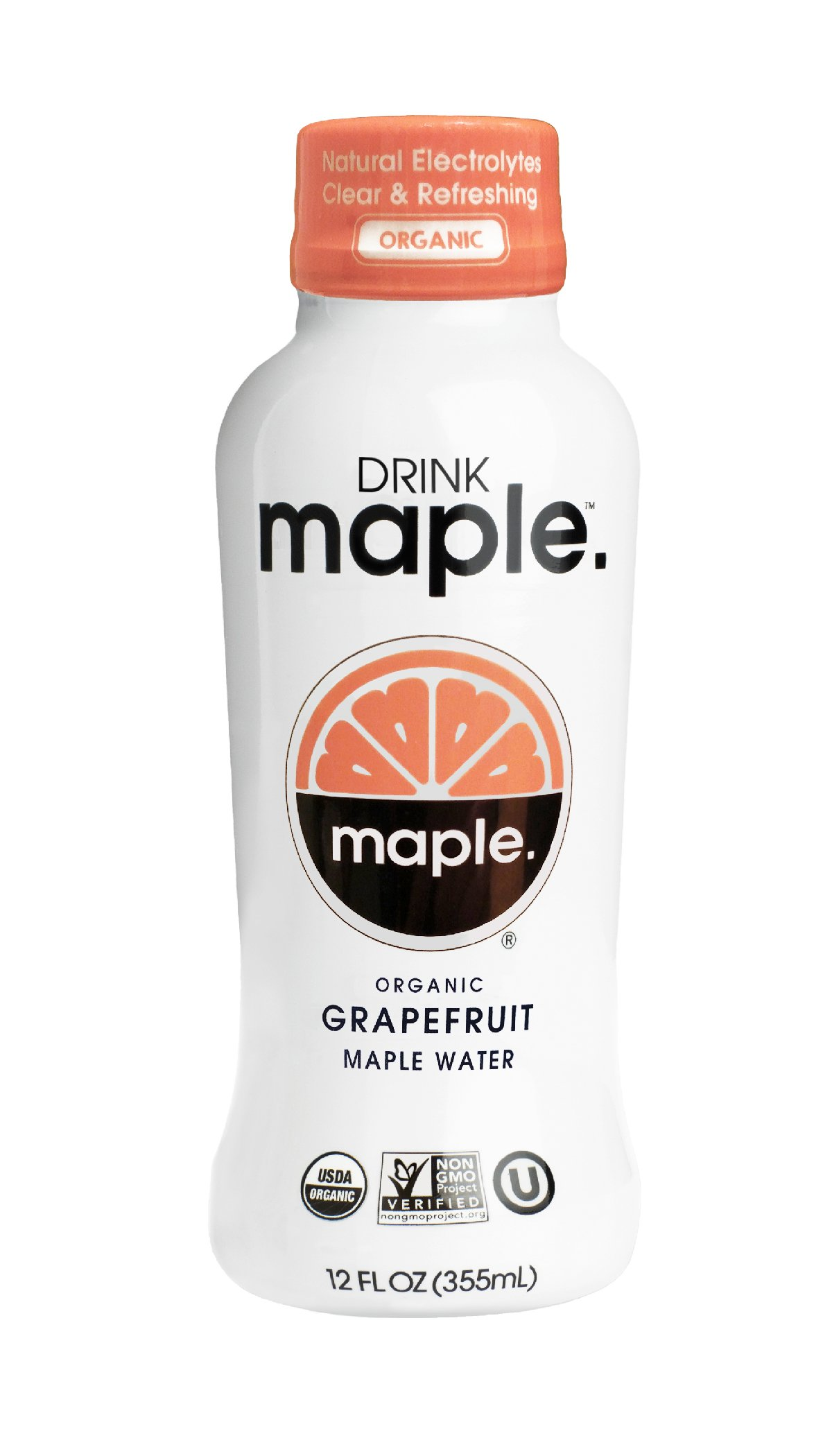 DRINKmaple Grapefruit Maple Water – Organic, Non-GMO, Gluten Free, Vegan Natural Hydration – Low Sugar Coconut Water Alternative – 12 Fluid Ounce (Pack of 12)