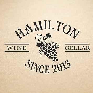 Amazon.de: J Boutique Schablonen Wein Box Keller Schablone Hamilton ...