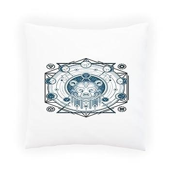 Geometrique Tatouage Ours S Taies D Oreillers Decoratif Housse De