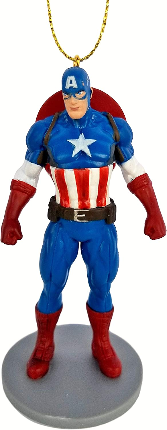 Captain America Superhero from Movie Endgame Figurine Holiday Christmas Tree Ornament - Limited Availability - New for 2019