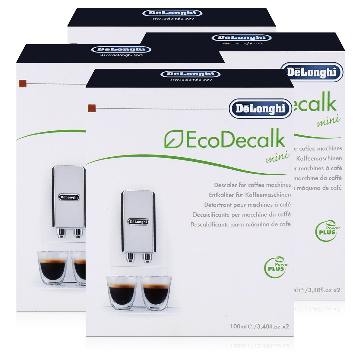Delonghi Descaler Ecodecalk 2 x 100ml (Pack of 4)