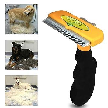 Perro y gato cepillo para pelusa, mejor largo cartucho de pelo corto Pet Grooming Herramienta